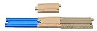 Tan Trackmaster to Blue Tomy track Adaptor 2-pack