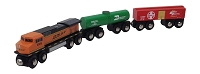 BNSF 3 pc. wooden train set