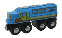 Blue Construction Express Engine