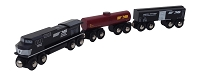 Norfolk Southern 3 pc. wooden train set