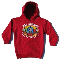 Red All Aboard Thomas Hoodie