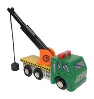 Wrecker Truck with magnetic arm