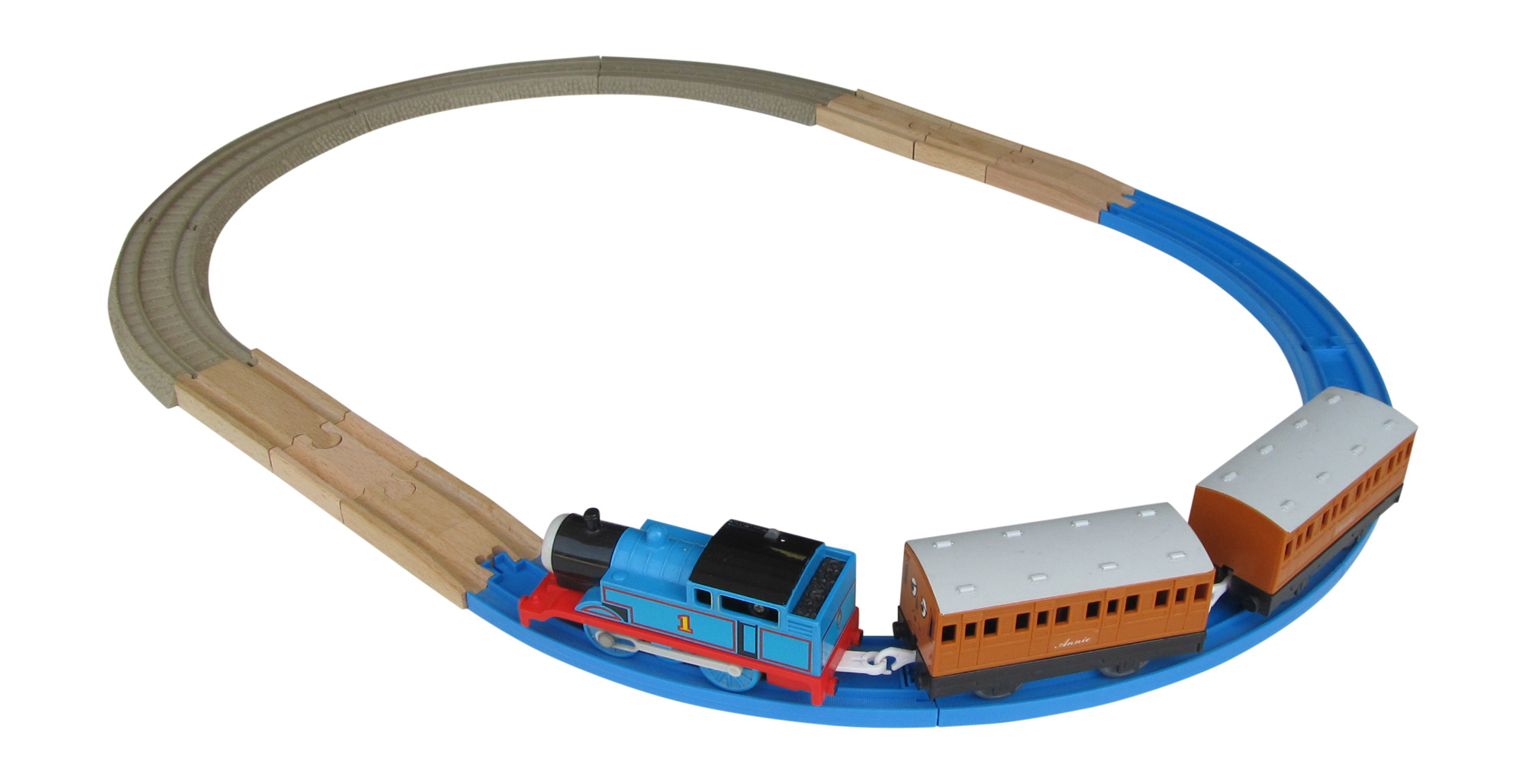 Blue Tomy To Wood Track Adaptor 2 Pack