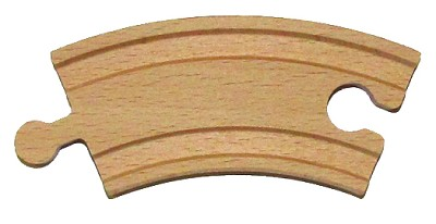 "3-1/2"" Curve Wooden Track"