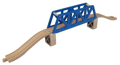 Blue Truss Bridge wooden track set