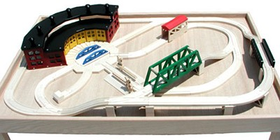 Super Six Roundhouse Track Set
