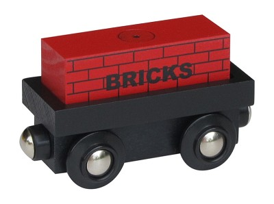"Cargo Car wooden train with ""BRICKS"" magnetic cargo"