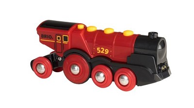 Brio Mighty Red Action Battery-Powered Locomotive