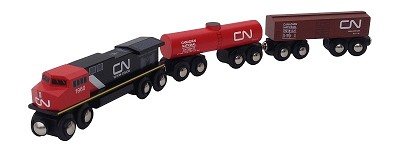 Canadian National 3 pc. wooden train set
