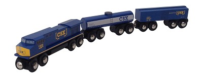 CSX 3 pc. wooden train set