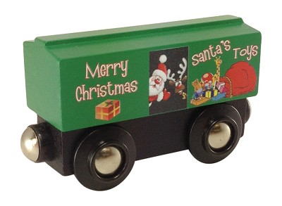 Green Christmas Boxcar
