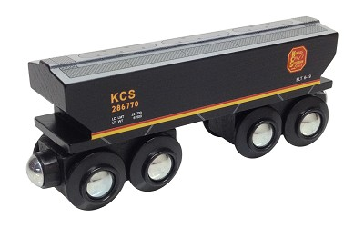Kansas City Southern Covered Hopper magnetic wooden train car
