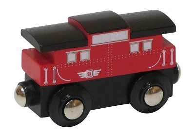 Red Caboose wooden train