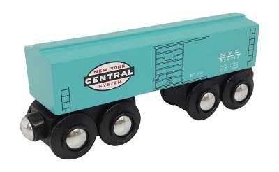 New York Central Boxcar Wooden Train