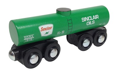 Sinclair tank car wooden train