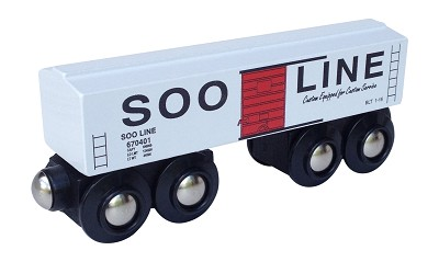 Soo Line Boxcar Wooden Train