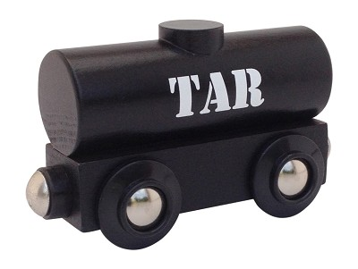 Tar Wooden Train Tank Car