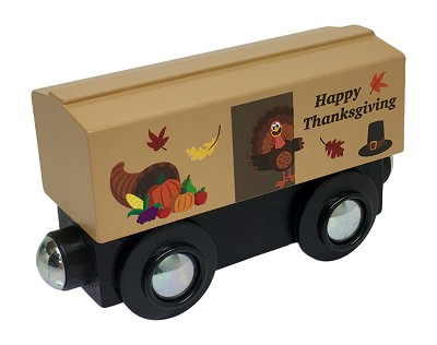 Thanksgiving Boxcar wooden train