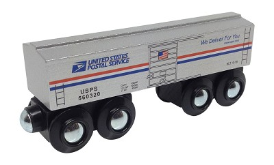 U.S. Mail Boxcar Wooden Train